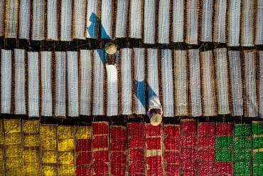 Cuộc sống đời thường rực rỡ trong bức tranh các làng nghề Việt