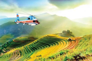Từ năm 2021, bạn có thể ngắm cảnh ruộng bậc thang Mù Cang Chải bằng máy bay trực thăng rồi này